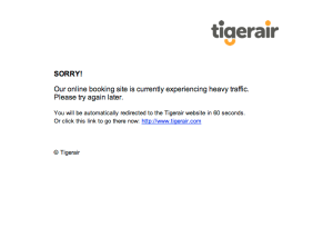 Tigerair Missed Opportunity