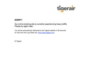 Tigerair Missed Opportunity